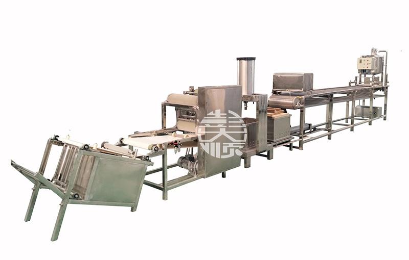 全自动豆腐皮机自动化操作,非常节省劳动力